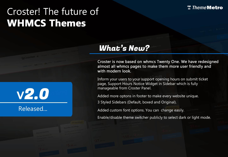 Croster WHMCS CMS Theme
