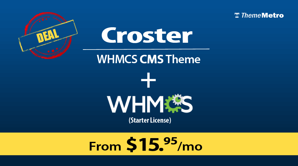Free WHMCS license with Croster WHMCS Theme